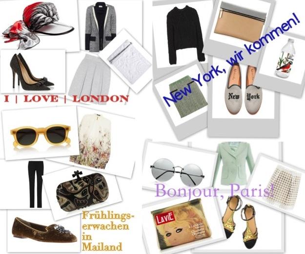 Modewochen: Paris | London | New York | Mailand